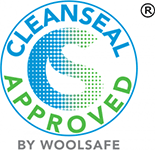 Cleanseal Approved by Woolsafe