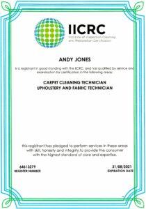 IICRC Certificate